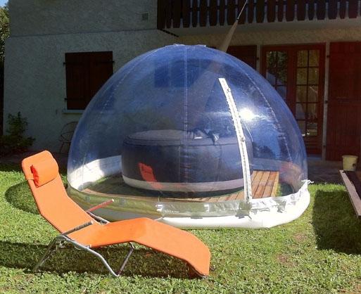 Abri piscine abris pour espaces ext rieurs dome cr ation - Couverture spa exterieur ...